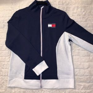 Tommy Hilfiger Full Zip Mock Neck Sweater